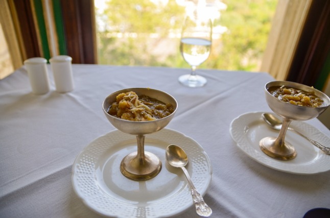 At European styled café, Palki Khana