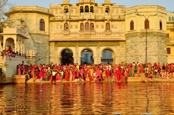 A glimpse of Mewar festival celebration on Gangaur ghat. An award winning picture by Anuj Nigam.