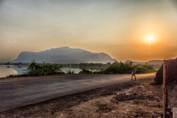 Evening in Champaner
