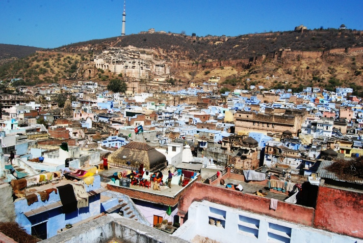 Bundi city from Taragarh fort