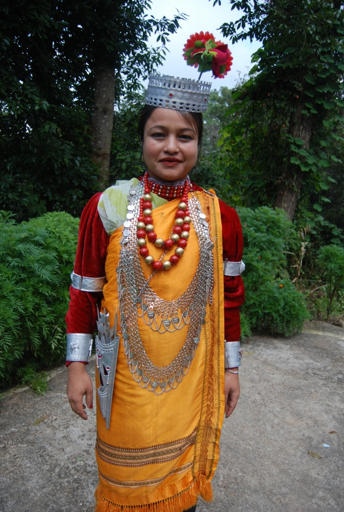 Locale in a typical khasi dress_Shillong