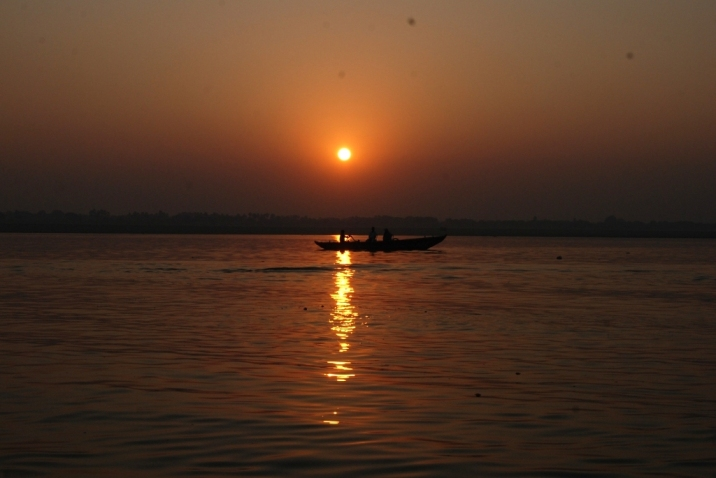 sunset at ganga_Varanasi