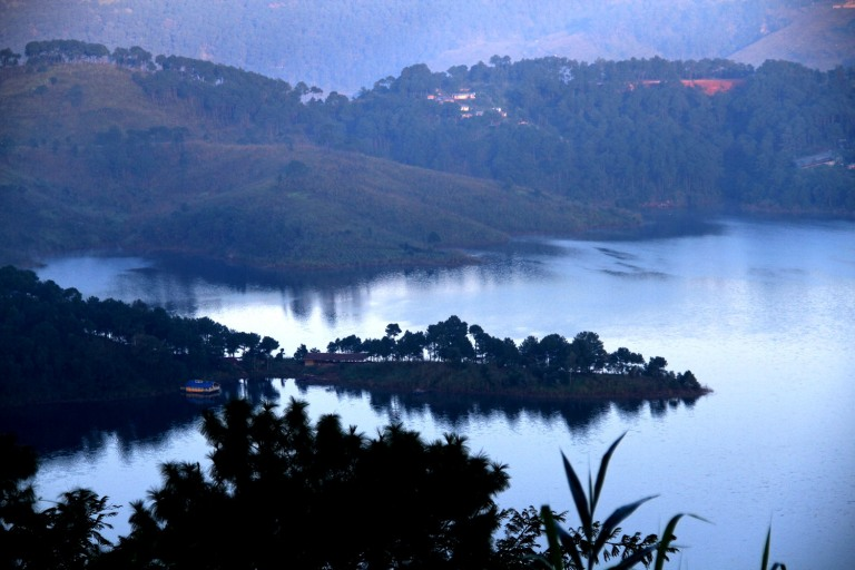 Umiam Lake captured from one of the three bridges that need to be crossed to reach Shillong.