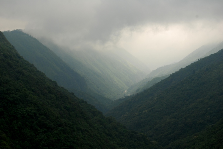 Scene of valley from outside Shillong en route to Cherrapunji.