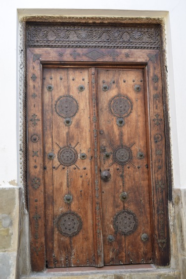 The Zanzibar style of carving on a gate