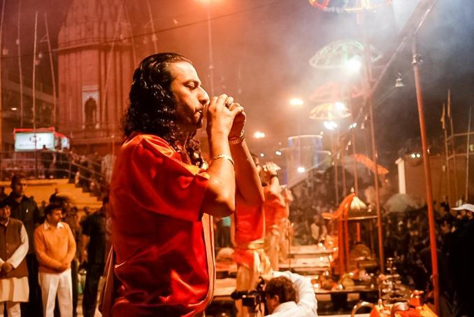 Ganga aarti at Varanasi Ghat