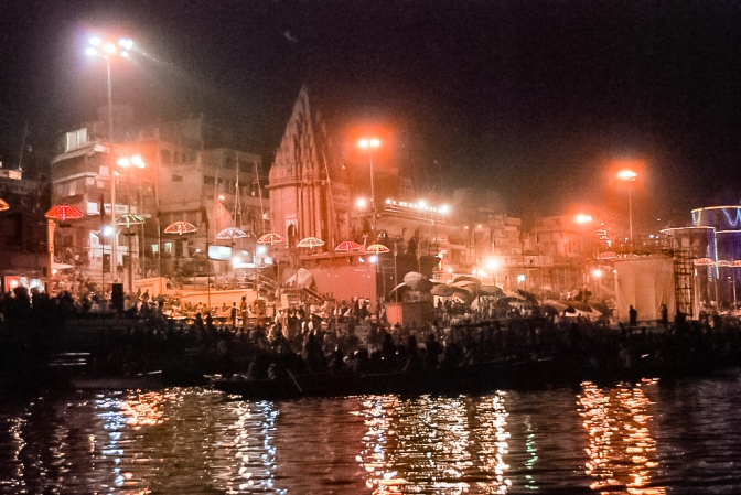 Ganga at night