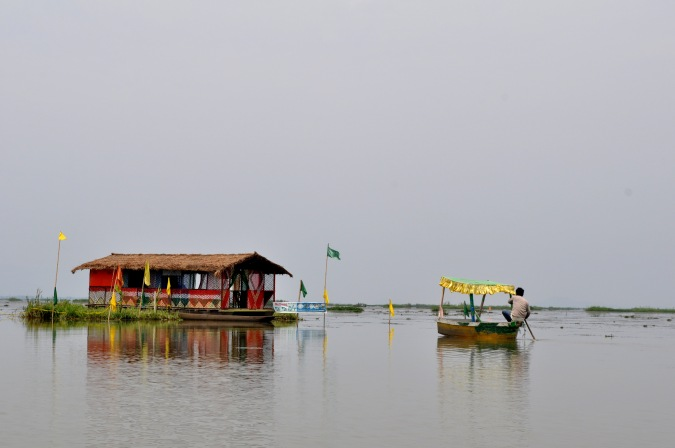Floating hut on Lake Loktak.
