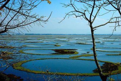 Lake Loktak: Image taken from Manipur update