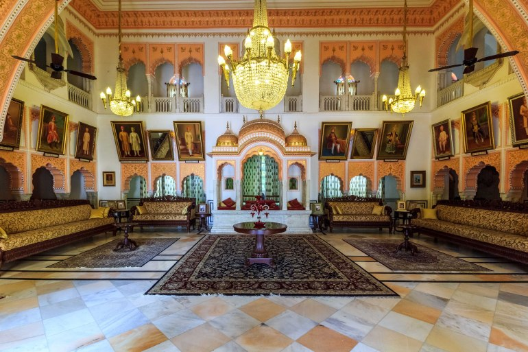 The royal durbar which once saw meetings between rich merchants of the area.
