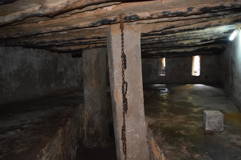 Upto fifty slaves were chained and kept in this chamber