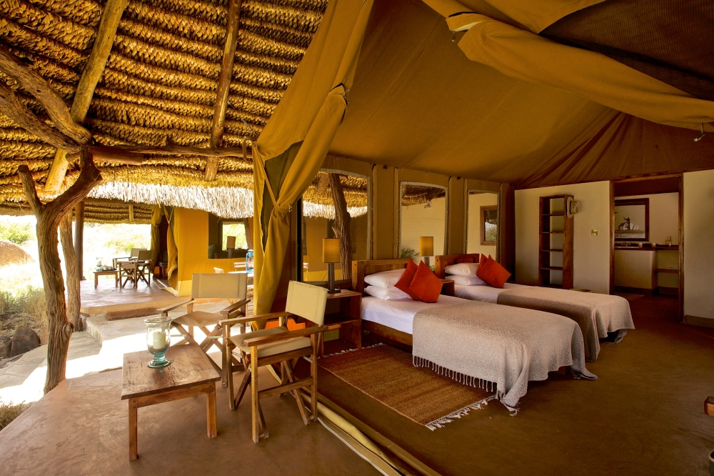 Lewa Safari Camp - accommodation - family tent-16