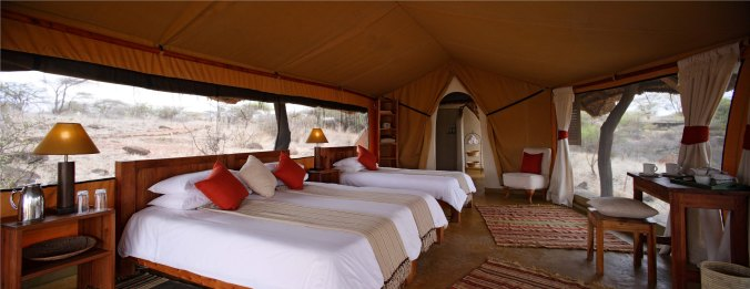 Lewa Safari Camp - Triple Tent