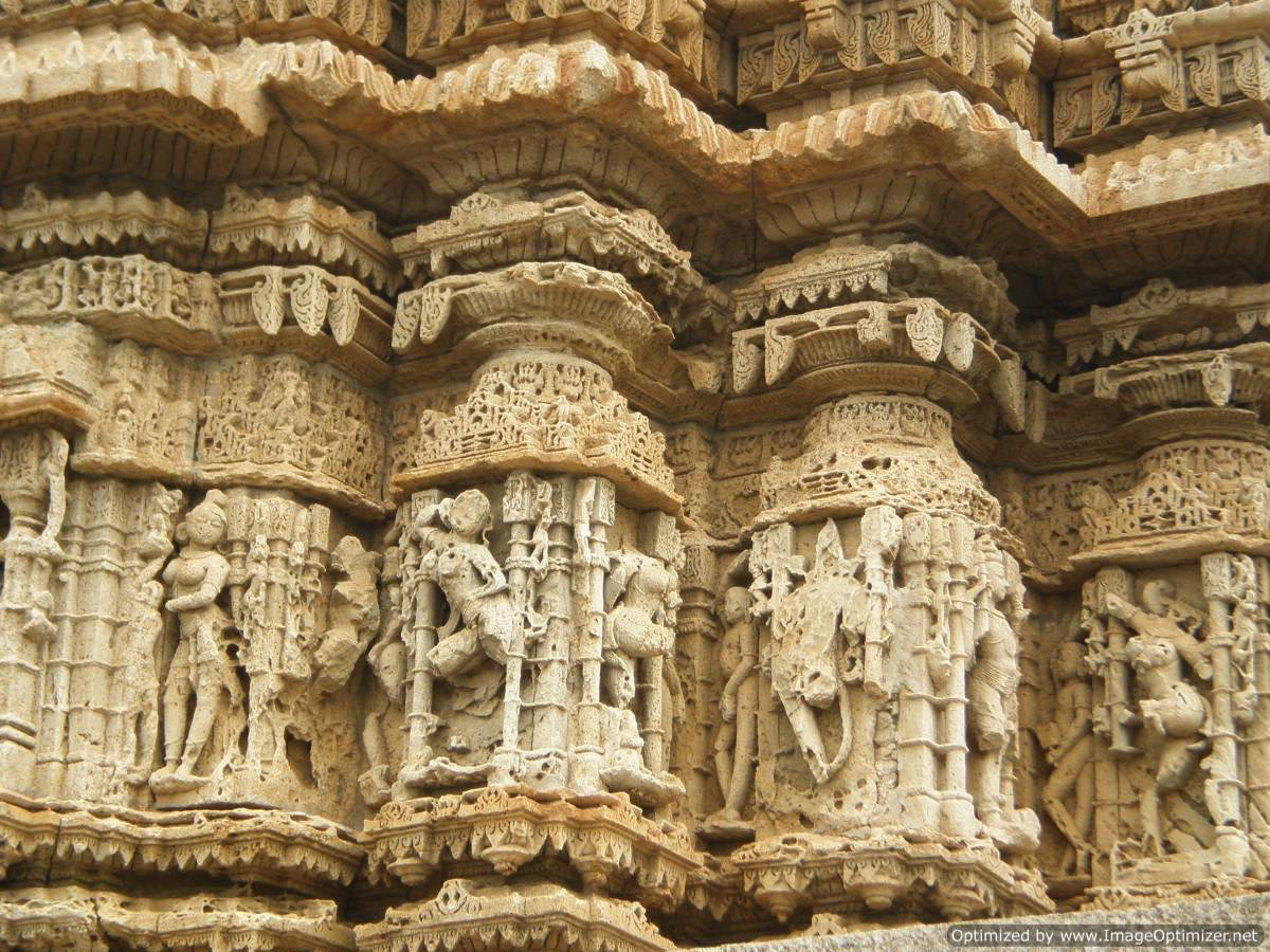 Dwarka_temple carvings