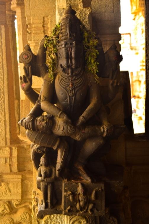 Lord Narsimha idols at Lower Ahobilam temple