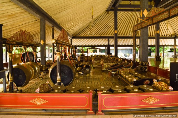Gamelan orchestra in the Krotan Palace_Yogyakarta