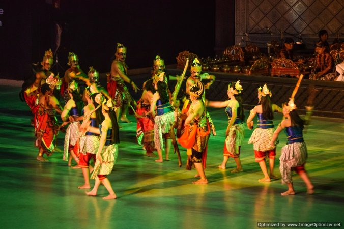Ramayana as dance drama as played in Yogyakarta