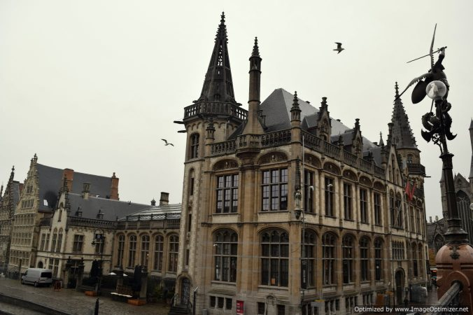 Taken from the bridge at river Leie in Ghent