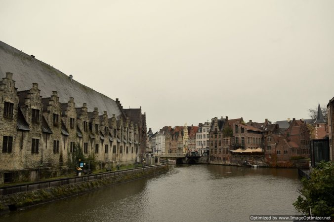 The enchanting old city photographed from one of the canals