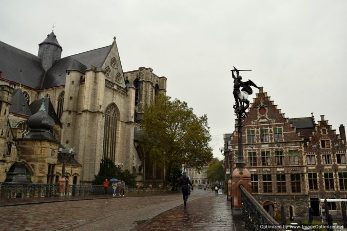 The old churches of Ghent