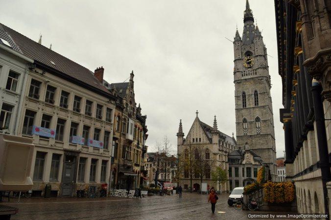 Het Belfort Van Ghent captured from the iconic Hotel d'Hane Steenhuyse_Ghent