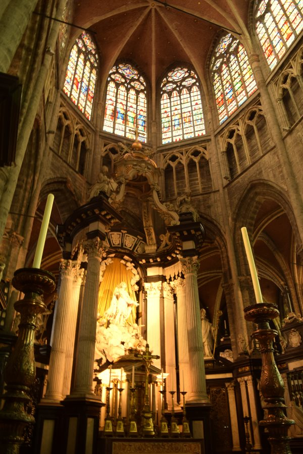 Inside the St. James Church in Ghent