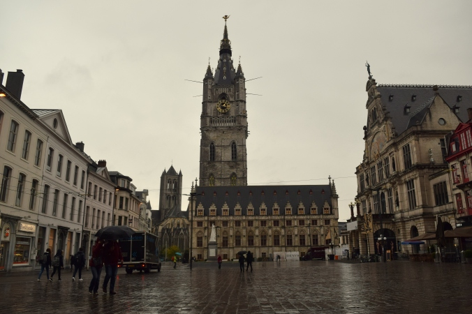 The old churches of Ghent, Belgium