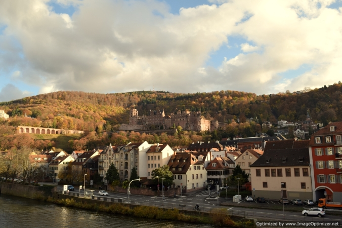 The Carl Theodor Bridge offers a walk through history, with some splendid views of the town and the castle, with the black forest in the backdrop.