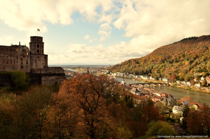 Heidelberg city from the castle that looks down as some angelic guardian