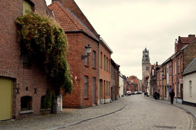 Cobbled pathways of Bruges