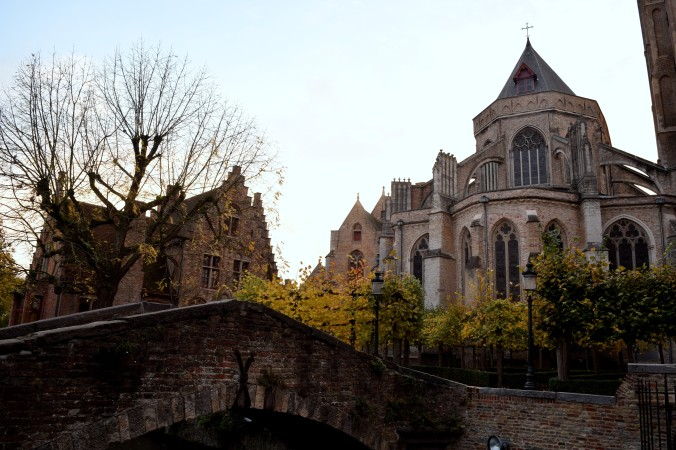 Near Bonafacious Bridge in Bruges