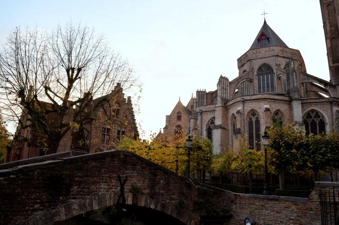 Near Bonafacious Bridge in Bruges