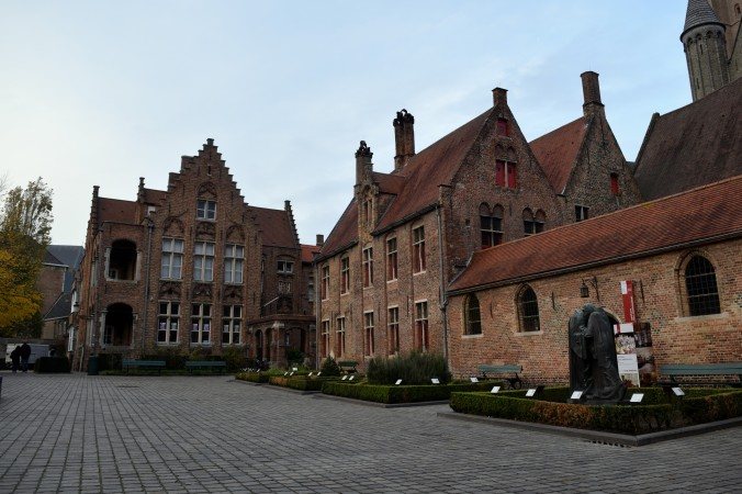 The Sint-Janshospitaal (St John's Hospital), which once functioned as a hospital and is now a building of art with Hans Memling's detailed devotional work for his chapel